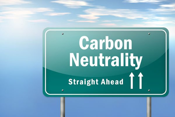 Highway Signpost with Carbon Neutrality wording